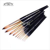 Winsor & Newton short black nylon round rod gouache watercolor brush pen brush acrylic applicable single sale