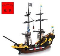 Enlighten Pirate Ship Corsair Adventure Building Block Sets Educational Construction Bricks Toys for Children Lego Compatible