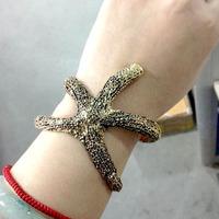 2014 New Style Hot Sale Fashion Starfish Women Favorite Bangles & Bracelets 2 Colors SLA156
