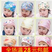 Baby full 100% cotton cap pirate hat bag tieclasps turban cap child summer hat