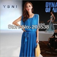 2014 New Fashion Elegant Dress Women Summer Beach Dresses Long Chiffon Maxi Boho Dress