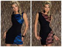 Girl's Sleeveless Bodycon Mini Dress Party Blubwear Round Neck & Backless Back N109