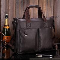 Paul man bag fashion casual bag commercial compound cowhide handbag laptop bag briefcase male  fashion style
