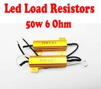2pcs / pair 6ohm 50w watt Load Resistor for auto LED bulb Foglight DRL daytime running Canbus Fix Error