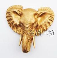 Resin elephant wall mural modern home decoration fashion animal head wall  home decor