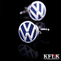 Kflk volkswagen emblem cuff button cufflinks nail sleeve male shirt button 1079 cufflinks