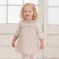 Davebella spring dot long-sleeve princess one-piece dress baby skirt db954