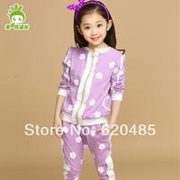Flower fashion outerwear child sports set baby autumn children's clothing 2014 female child spring