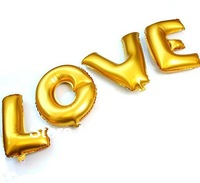 """Wedding, New Decoration Foil Balloon Letters """"love """" Full Alphabet Gold  Party decoration wedding"""