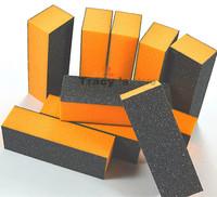 Retailing Nail Art File 10pcs/lot Orange Black Block Sand Manicure Buffers Tool Nail Art Files 100/180 High Quality