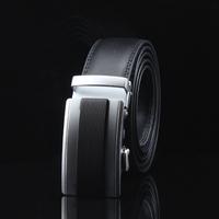 Men Genuine Leather Belt Automatic/Buckle/Brown/Black Brand/Metal/Strap/Luxury Belts for Men pk218-T0