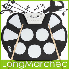 W758 Digital Portable 9 Pad Musical Instrument Electronic Roll-up Drum Kit(China (Mainland))