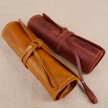 wholesale genuine leather pen case