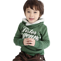 2014New Kids Toddler Boys Fashion Spring Autumn Cotton Long Sleeve Letter Hooded Jacket Hoodies Clothing