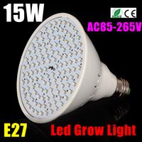 10X Newest plant lamp 85-265V 15W E27 RED BLUE 168 LEDS Hydroponic LED Plant Grow Lights led bulb LED LIGHT