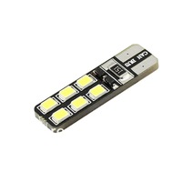 4x T10 Canbus 12 smd 5050 LED car Light Error Free T10 W5W 194 5050 SMD CANBUS LED Light Bulb Free Shipping