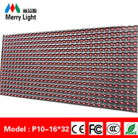 DY factory p10 semi-outdoor all kinds of single color led display module