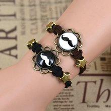 1Pair Dailing Honey Eiffel Tower Mustache Elephant Clock Star Beads Flower Edge Cabochons Bronze Pendant Korea