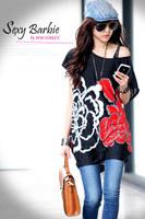 New 2014 Fashion Women T Shirt Flower Print Women's Short Sleeve Tops&Tees T-shirt Spring-Summer 40 Color Big Size Free Shipping