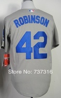 Cheap Sale,#42 Jackie Robinson Men's Gray 2014 New Baseball Jersey Stitched baseball best ,Free Shipping,wholesale