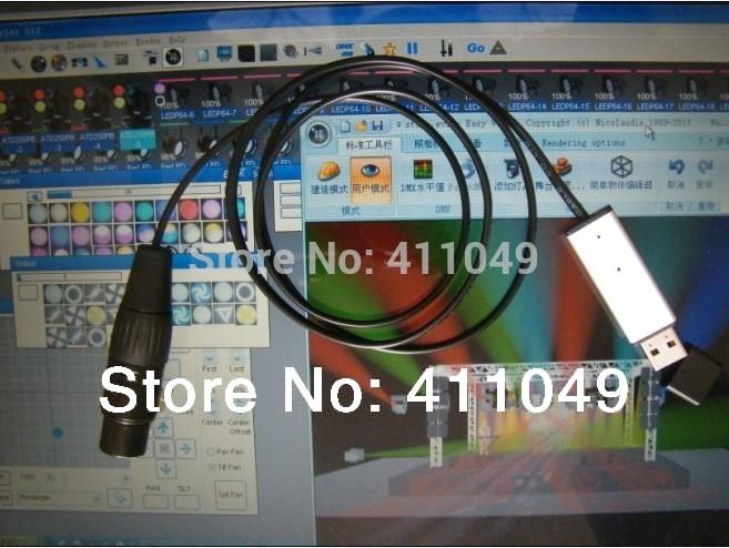 USB to DMX Interface Adapter DMX512 Computer PC Satge Lighting Controller Dimmer(China (Mainland))