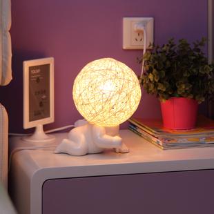 Dom porco do bebê cerâmico escurecimento boneca cabeça grande lâmpada bebê lâmpada de cabeceira candeeiro de(China (Mainland))