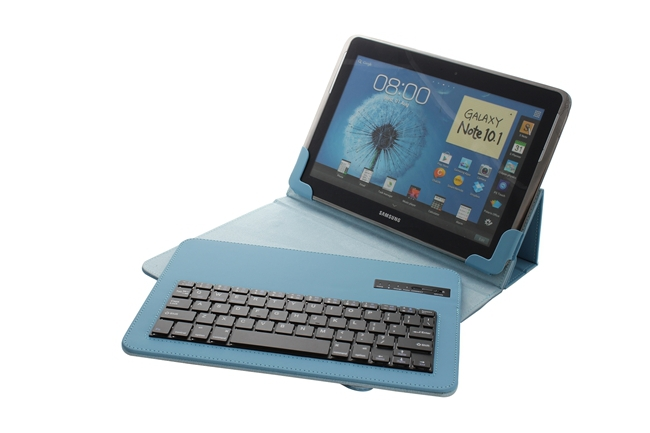 Universal 9 10 1Inch Tablet Removable Bluetooth Keyboard Portfolio Leather Case Cover IOS Android Window Tablet