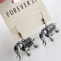 12 pair / lot new arrival product 2014  fashion women jewelry accessories vintage elephant earrings