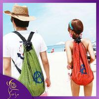 2014 New Geometric Mesh Beach Bags Women, Fashion Swimming Backpack Waterproof,High Quality Nylon Hiking Backpacks Factory Price