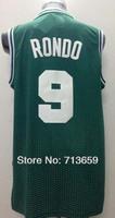 Free Shipping,Cheap sports jersey,Boston #9 Rajon Rondo Fashion Rev 30 basketball jersey,embroidery logos,Accept Mix Order