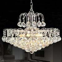 Premier European Style K9 Crystal Pendant Light Fashion Living Room Dining Room Decroation Lamp
