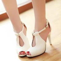 Free shipping Fashion high-heeled shoes platform thin heels sexy sandals women's bandage hasp shoes open toe shoe