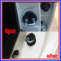 Car Door lock decoration cover for KIA K2 / RIO SOUL solaris\verna Rena 4pcs per set