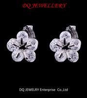 Lovely jewellery sapphire silver Clip Earrings for women gift free