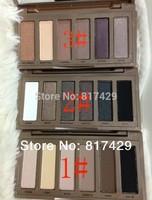 3pcs/lot nk Nake Basics makeup Palette 6 Colors Eyeshadow make up set #1 #2 #3  Free shipping 2013 retail  wholesale price