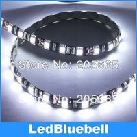 Waterproof IP65 5m 500cm SMD 5050 LED Strip Light Black PCB , 60Leds/meter, 12V Input