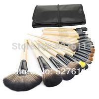 2014 HOT !! Professional 24 pcs Makeup Brush Set tools Make-up Toiletry Kit Wool Brand Make Up Brush Set Case free shipping