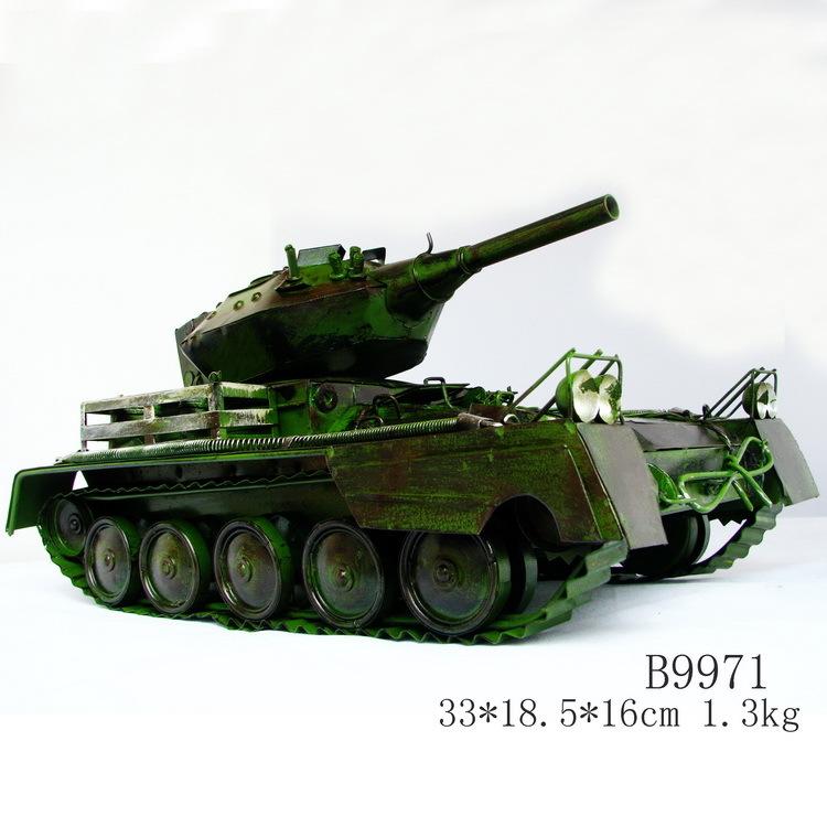 Handmade antique metal car models military tanks model of world war ii b9971(China (Mainland))