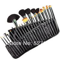 2013 new !!  Professional Makeup Brush With Free Case 32PCS tools Make-up Toiletry Kit Wool Brand Make Up Brush Set Case
