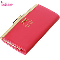 Kqueenstar 2014 bow board clip women's wallet long design wallet