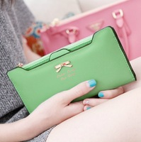 Pear doll wallet female ultra-thin design women's bow long wallet women's wallet
