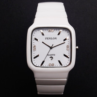 Fashion brief fenlon ceramic ladies watch white ceramic watch female women's watch