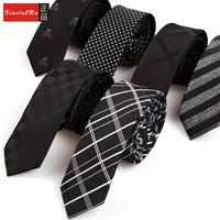 Men's fashion casual tie narrow 5 cm marriage tie 100% polyester neckties