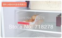 Free shipping(3 piece/lot) Fridge Storage Organizer Rack Shelf,ABS Plastic Refrigerator Egg/Drink/Food Storage Box Case