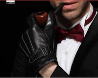 Leather gloves men  luvas man luva warm winter sheepskin gloves male Korean men leather guantes igloves