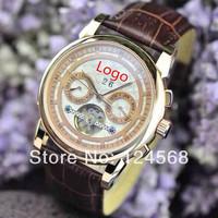Swiss watch brand PP male table calendar week Tourbillon Automatic mechanical watches men watches belt