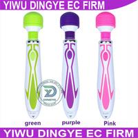 2014 NEW 60 Speed Vibration  Body Massager  Magic Wand AV Massager Clitoris Stimulator Vibrators  19.5*3.5cm