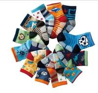 12pairs  free shipping New Cute Baby Socks/Kid boys girls  Slip-resistant Cartoon Floor Socks 1-3 Years children  socks