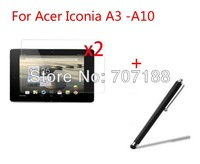2x New Clear Screen Protector Film Guard +StylusFor Acer Iconia A3 -A10 10.1 inch Tablet PC,free shipping!!!