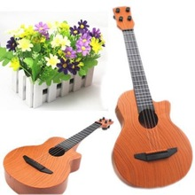 New Child Brown Plastic  Guitar Music Early Childhood Children Kid Toys Musical Instruments Guitar Free Shipping(China (Mainland))